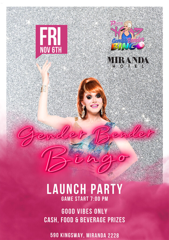 Gender Bender Bingo at Miranda Hotel